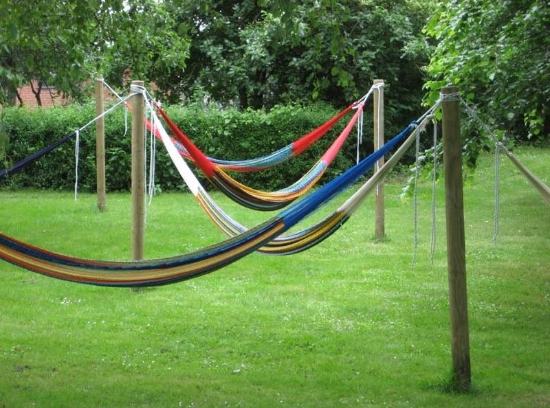 Hængekøje udendørs | Sæt stolper op til hængekøjer
