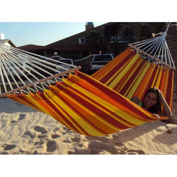 Tequila Sunrise Hængekøje med 80 cm træstokke