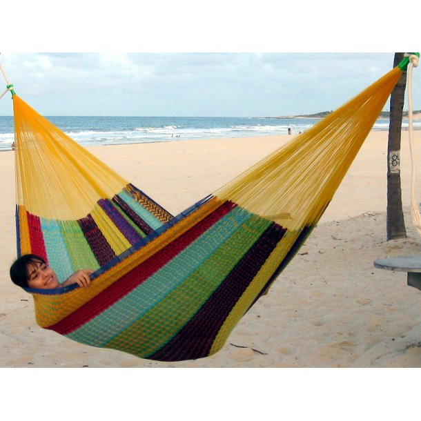 Mexicansk familiehængekøje til hygge og leg