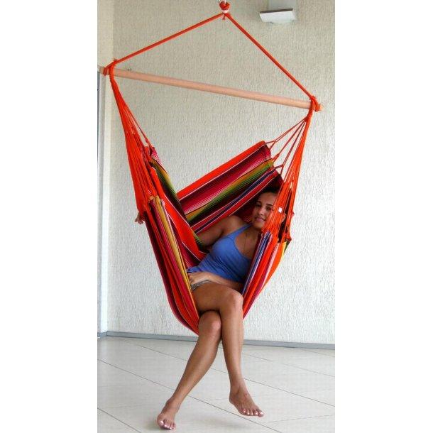 Hængekøjestol i farverigt stof - Mexico Orange
