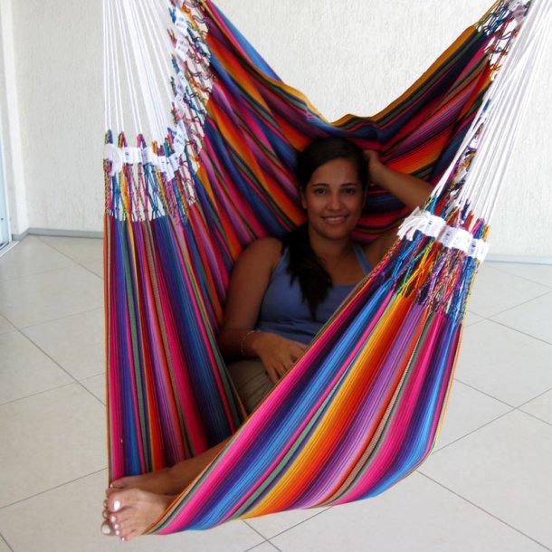 Indigo Hængekøjestol i chic farverigt stof