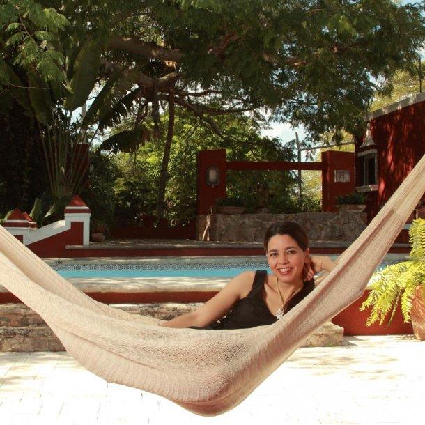 Naturhvid mexicansk hængekøje - size 4