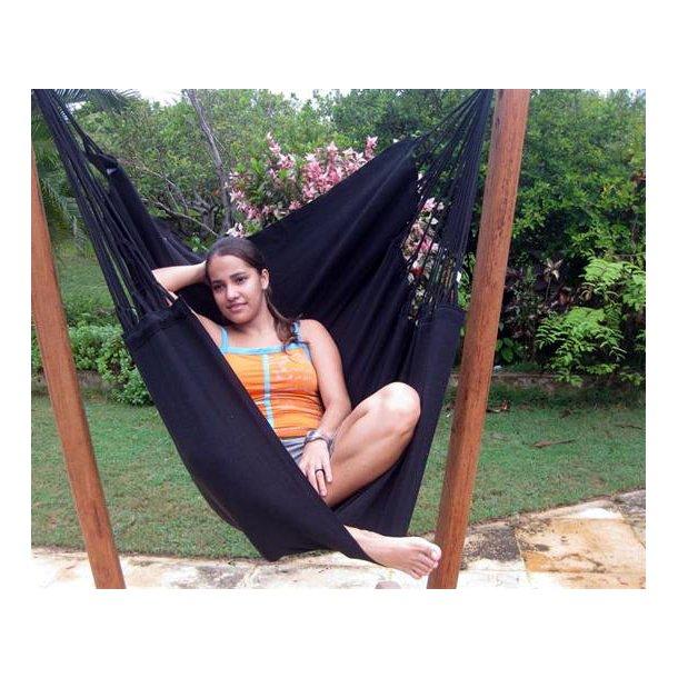 PRO hængestol - Sort outdoor textil