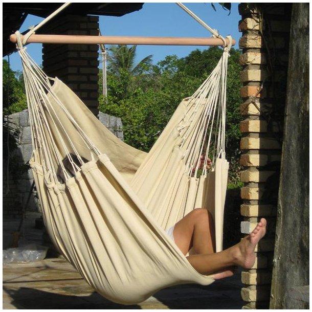 Beige Hængestol i Outdoor Materiale PRO