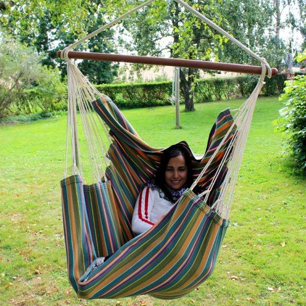Dunas PRO hængestol i farverigt outdoor stof.