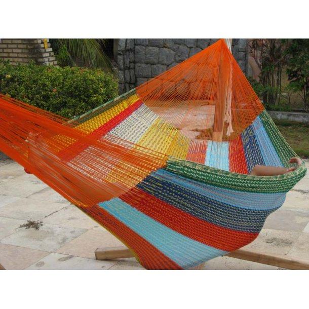 Mexicansk hængekøje i coated bomuldsnet