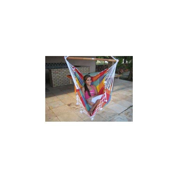 Hængekøje stol i ternet stof