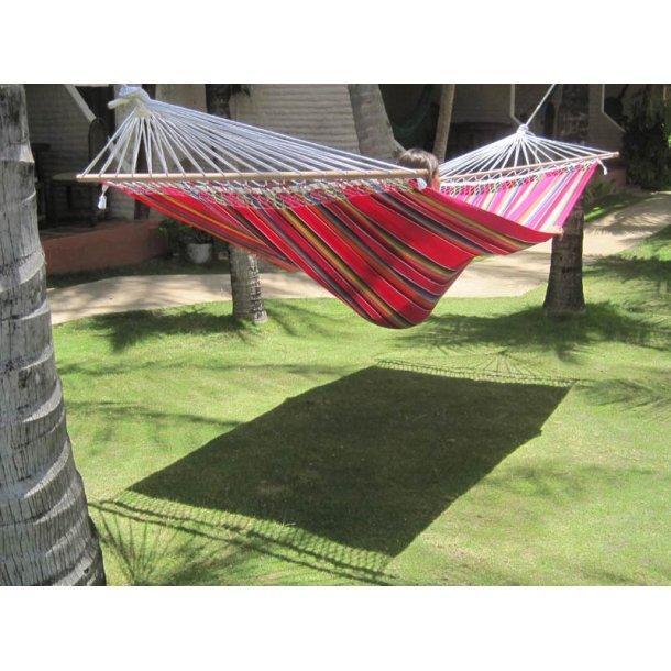 Stærk farverig stofhængekøje med Mexico Pink 140cm