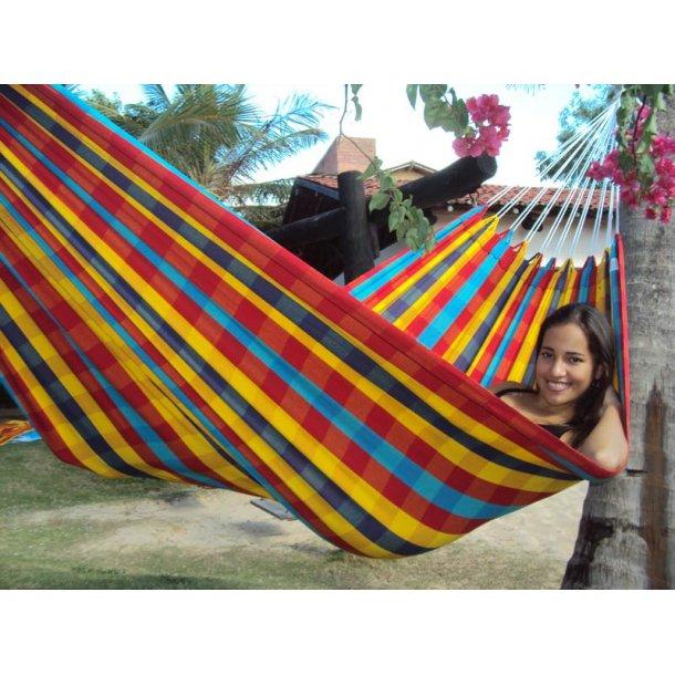 Ternet hængekøje i stærke farver til børn