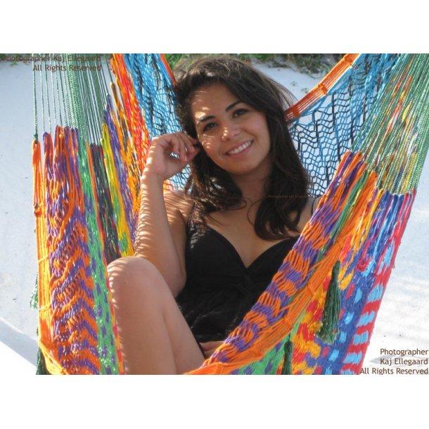 Mexicansk hængestol i unikt farvemix